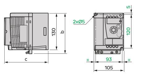 Schneider+B02+ATV12系列变频器+外形尺寸2