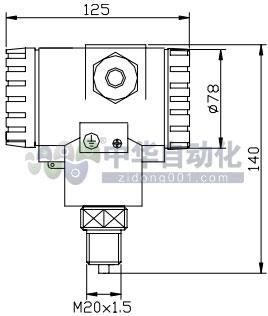 !!!!!!!!!ColliHigh+JYB-KO-P系列防护型扩散硅压力液位变送器+安装方式1