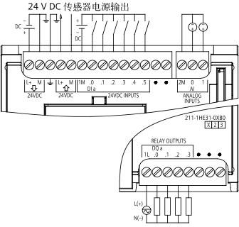 SIEMENS+E06+S7-1200-1211C系列CPU+接线方式3