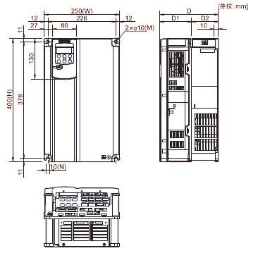 FUJI+FRENIC-MEGA系列高性能多功能型变频器(3相 380V)+安装方式4