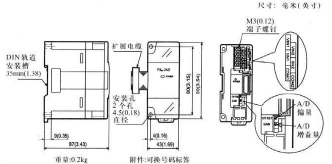Mitsubishi+FX2N系列模拟量输入输出模块1