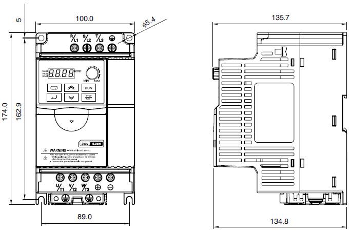 OMRON+3G3JZ系列简易型智能变频器+安装尺寸2
