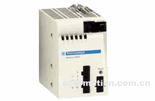 电源模块的选型依据是: 外部电源类型:24V直流,48V直流或100...240V交流 BMXCPS***0电源模块的前面板有下列部件: 1 显示单元包含: OK LED(绿色):电源电压正常; 24V LED(绿色):传感器电源电压正常(BMXCPS2000/3500交流电源模块有此功能); 2 针孔式RESET按钮,用于应用程序冷启动 3 2针连接口,安装可拆卸端子块(螺钉或弹簧型)用于连接报警继电器 4 5针连接口,安装可拆卸端子块(螺钉或弹簧型)用于连接: 直流或交流电源; 保护接地; 24V直