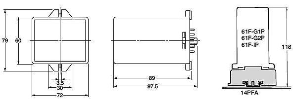 欧姆龙omron61f-g2pd(ac200v)电极式液位开关(插入型)