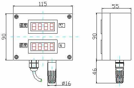 温湿度变送器 接线图