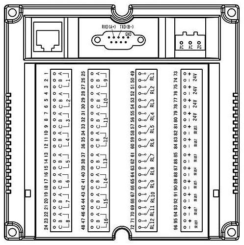 接线端子图 九针串口接线为: 1.